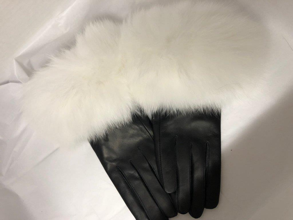 Leather Gloves with Fur