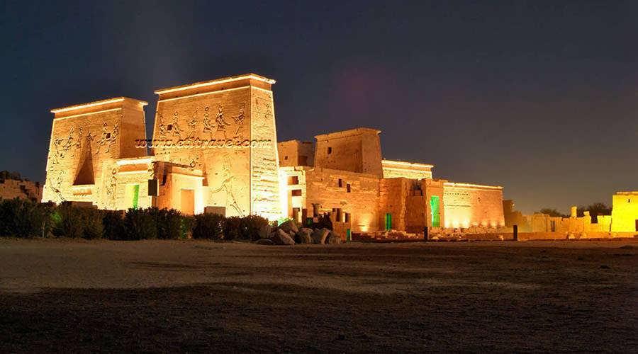 Light Show Philae Temple Egypt