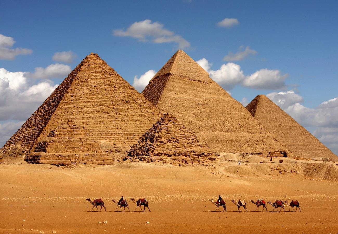 Pyramids Giza in Egypt