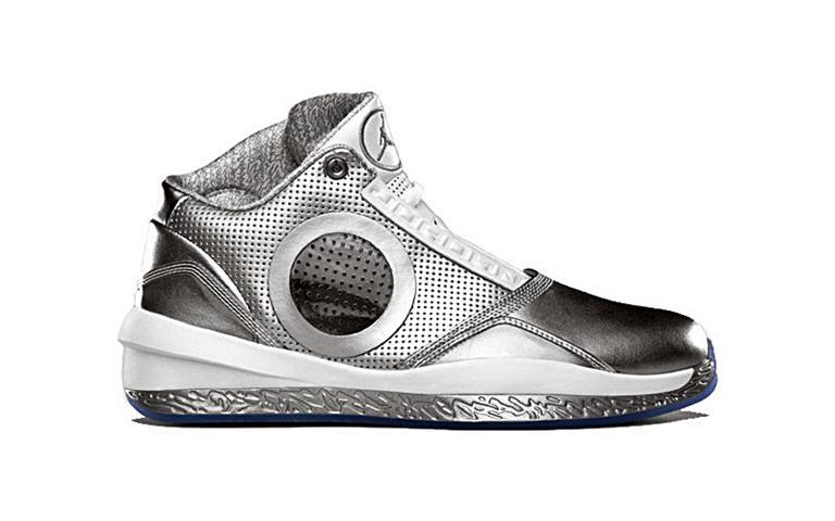 Air Jordan Silver Shoes