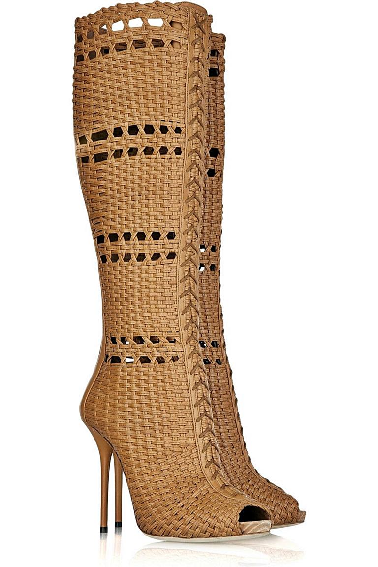 Gucci's Woven Leather Boot